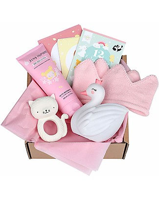 A Little Lovely Gift Box Set Regalo Nascita, Benvenuta! - Bambina - Extra Large Set regalo