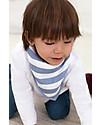 Aden & Anais Bavaglino Bandana Righe Bianco/Azzurro - 100% Mussola di Cotone (morbidi e assorbenti) Bavagli a Bandana