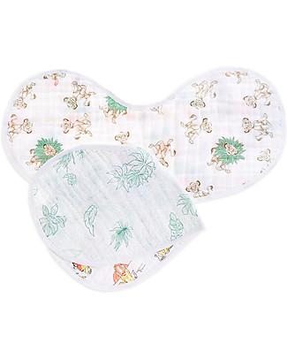 Aden & Anais Set 2 Bavaglini Coprispalla 2in1 - il Re Leone della Disney - 100% Mussola di Cotone Bavagli Coprispalla