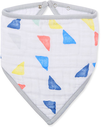 Aden & Anais Bavaglino Bandana, Triangles - 100% Mussola di Cotone (morbido e assorbente) Bavagli a Bandana