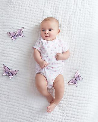 Aden & Anais Body Kimono Manica Corta - Mini Farfalle - Mussola di Cotone! Body Manica Corta