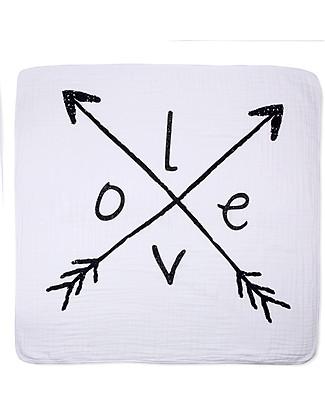 Aden & Anais Coperta Classic Dream™ Blanket - Love Struck - 100% mussola di cotone (120 x 120 cm) Coperte