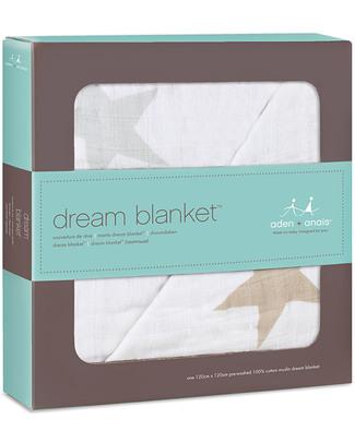 Aden & Anais Coperta Dream™ Blanket - Super Star Scout - 100% Mussola di Cotone (120x 120cm) Coperte