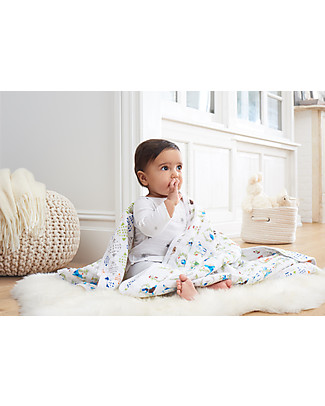 Aden & Anais Coperta Dream Blanket – Favole - 100% Mussola di Cotone (120x120 cm) Coperte