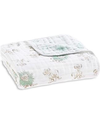 Aden & Anais Coperta Dream Blanket, 120 x 120 cm - il Re Leone  - 100% Mussola di Cotone Coperte