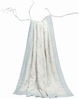 Aden & Anais Coperta Lifestyle (per Mamma e Papà) - Day Dream™ Blanket - Veranda - 100% Mussola di Bambù (150x180 cm) Coperte