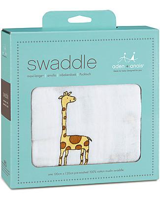 Aden & Anais Copertina Swaddle Milleusi - Giraffe - 100% Mussola di Cotone Copertine Swaddles