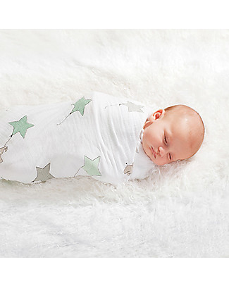 Aden & Anais Copertina Swaddle Milleusi - Up Up and Away - 100% Mussola di Cotone Copertine Swaddles