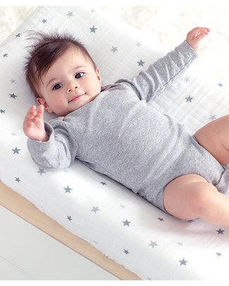 Aden & Anais Copri-materasso per Fasciatoio Twinkle Star - 100% Mussola di Cotone -  Coprifasciatoi e Imbottiture