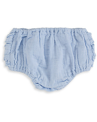 Aden & Anais Pantalone a Palloncino, Bloomer, Night Sky, Celeste - Mussola di Cotone! Pantaloni Corti