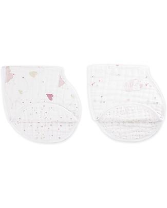 Aden & Anais Set 2 Bavaglini Coprispalla Lovely - 100% Mussola di Cotone Bavagli Coprispalla