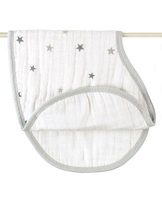 Aden & Anais Set 2 Bavaglini Coprispalla Twinkle Star - 100% Mussola di Cotone (multifunzione, cresce con il tuo bambino!) -  Bavagli Coprispalla