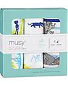 Aden & Anais Set 3 Pezze di Mussola Milleusi, Libro della giungla - 100% Mussola di Cotone 70x70 cm Pezze Di Mussola