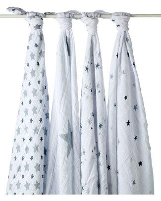 Aden & Anais Set 4 Copertine Swaddles Milleusi - Twinkle Star - 100% Mussola di Cotone  Copertine Swaddles