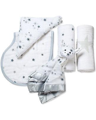 Aden & Anais Set Regalo di Nascita -Twinkle Star (4 regali in 1) Copertine Swaddles