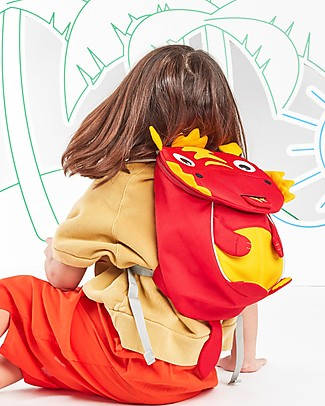 Affenzahn Zainetto 1-3 anni, Dario il Drago - Eco-friendly e giocoso! Zainetti