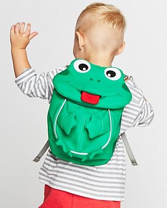 Affenzahn Zainetto 1-3 anni, Finn la Rana - Eco-friendly e giocoso! Zainetti