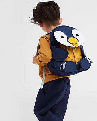 Affenzahn Zainetto 3-5 anni, Polly il Pinguino - Perfetto per l'asilo ed eco-friendly! null