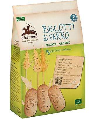 Alce Nero Biscotti di Farro Biologici, 250 gr - Senza olio di palma Biscotti