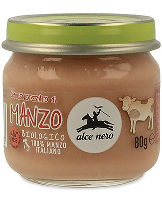 Alce Nero Omogeneizzato di Manzo Biologico – 100% carne italiana Omogeneizzati