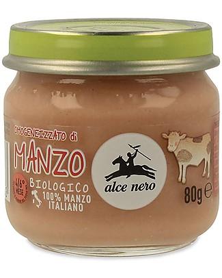 Alce Nero Omogeneizzato di Manzo Biologico - 100% carne italiana Omogeneizzati
