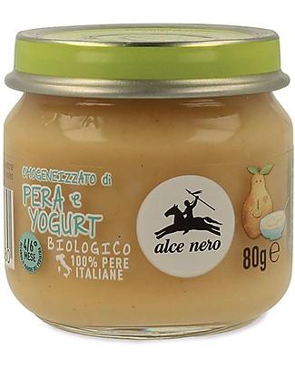 Alce Nero Omogeneizzato di Pera e Yogurt Biologico - 100% frutta italiana Omogeneizzati