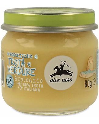 Alce Nero Omogeneizzato di Trota con Verdure Biologico – 100% ingredienti italiani Omogeneizzati