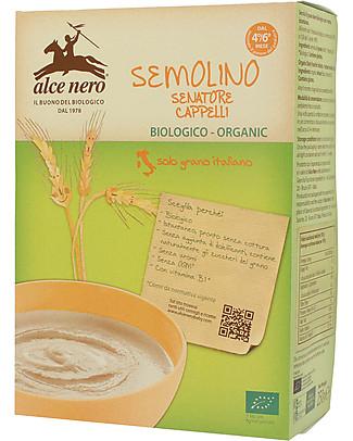 Alce Nero Semolino di Grano Duro Biologico, 250 gr - 100% ingredienti italiani Pappe