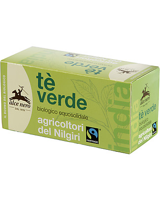 Alce Nero Tè Verde Biologico, Fair Trade – 20 bustine Tisane