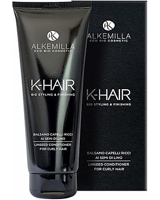 Alkemilla Bio Balsamo Capelli Ricci ai Semi di Lino, K-Hair - 200 ml Cura dei Capelli