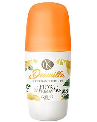 Alkemilla Bio Deodorante Roll-on Fiori di Primavera, Deomilla - 75 ml Deodoranti