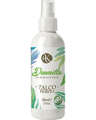 Alkemilla Bio Deodorante Spray Talco Fiorito, Deomilla - 100 ml Deodoranti