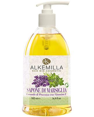 Alkemilla Bio Sapone di Marsiglia, Lavanda di Provenza con Vitamina E - 500 ml Detergenza