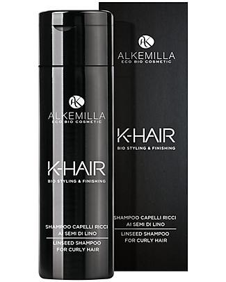 Alkemilla Bio Shampoo Capelli Ricci ai Semi di Lino, K-Hair - 250 ml Bagno Doccia Shampoo