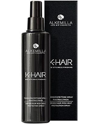 Alkemilla Bio Termoprotettore Spray Piastra e Phon, K-Hair - 100 ml Bagno Doccia Shampoo