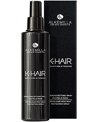 Alkemilla Bio Termoprotettore Spray Piastra e Phon, K-Hair - 100 ml Cura dei Capelli