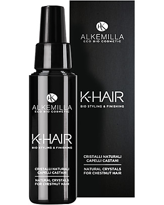 Alkemilla Cristalli Naturali Capelli Castani, K-Hair - 50 ml Cura dei Capelli