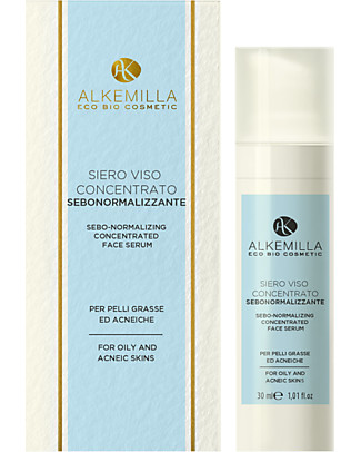 Alkemilla Sebo-Normalizing Concentrated Face Serum, for Greasy Skin - 30 ml Face