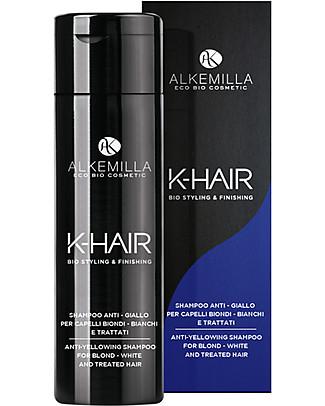 Alkemilla Shampoo Anti-Giallo per Capelli Biondi, K-Hair - 250 ml Cura dei Capelli