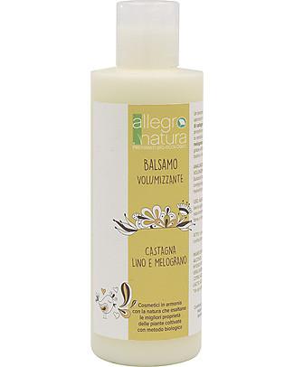 Allegro Natura Balsamo Bio Volumizzante, 200 ml - Per tutti i tipi di Capelli Bagno Doccia Shampoo