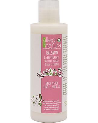 Allegro Natura Balsamo Ristrutturante Bio, 200 ml - per Capelli Trattati Bagno Doccia Shampoo