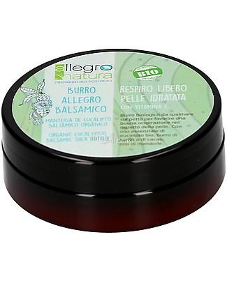 Allegro Natura Burro Balsamico Bio, 50 gr - Aiuta a Respirare meglio Creme e Olii