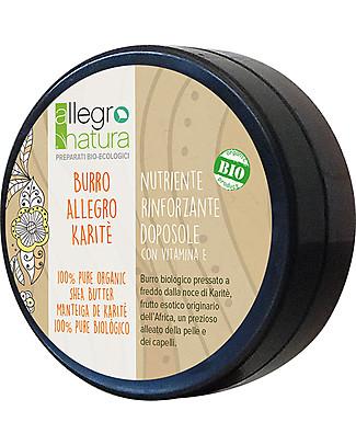 Allegro Natura Burro di Karité Bio, 50 ml - Per Pelle Secca e Irritata Creme e Olii