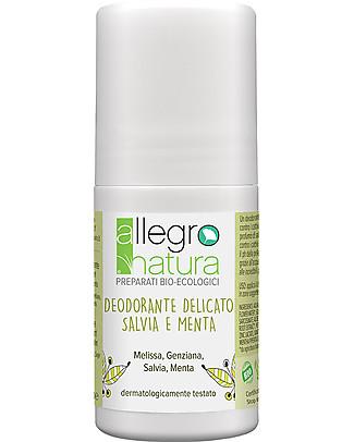 Allegro Natura Deodorante Roll Bio Salvia e Menta, 50 ml - Delicato e Fresco Deodoranti