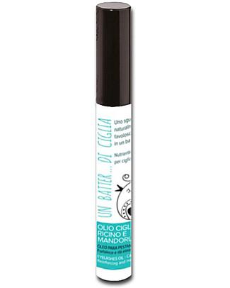 Allegro Natura Olio Ciglia Ricino e Mandorla Bio, 10 ml - Ciglia Lunghe e Folte! Viso