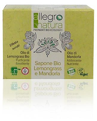 Allegro Natura  Saponetta Bio Lemongrass Scrub, 100 gr - Scrub Naturale Detergenza