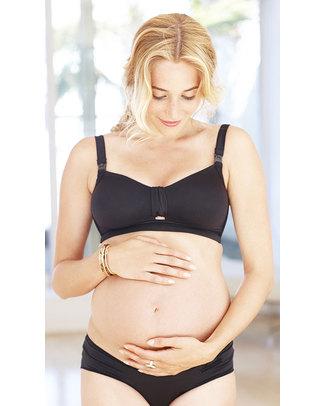 Amoralia Reggiseno da Allattamento Curve Generose Second Skin Nero Reggiseni