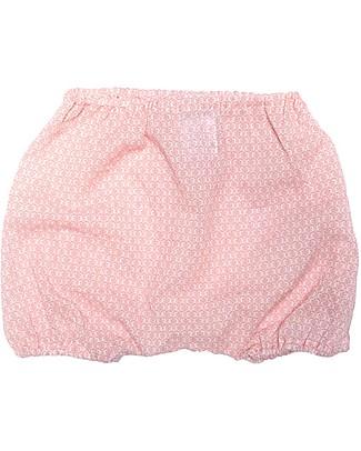 ANG un bebé Pantaloncino Coulotte Giovanni, Fiorellini Rosa - 100% cotone Pantaloni Corti