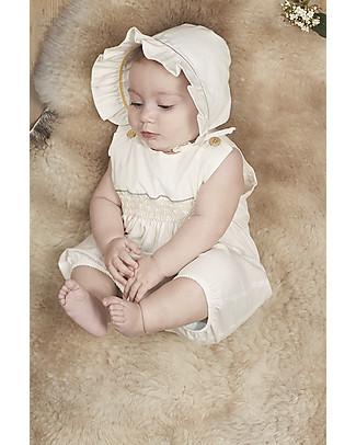Annaliv Tutina Estiva Senza Maniche in Cotone Bio, Bianco - Confezione regalo in legno! Body Manica Corta