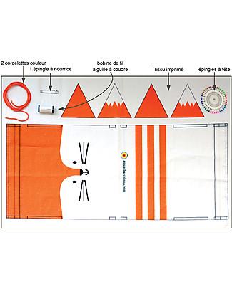 aPunt Barcelona Kit Cucito Il Mio Zainetto, Volpe - Crea e decora il tuo zainetto! Kit Fai Da Te